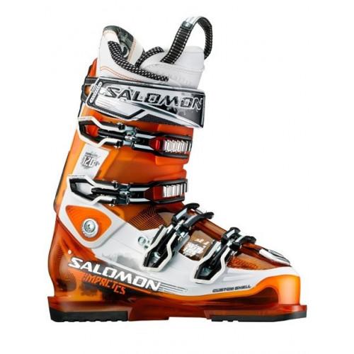 chaussures de ski homme salomon impact 120 cs orange. Black Bedroom Furniture Sets. Home Design Ideas