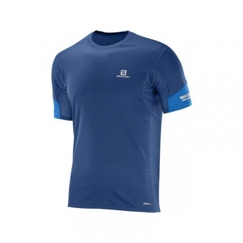 T-SHIRT HOMME SALOMON AGILE SS TEE MIDNIGHT BLEU