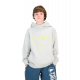 SWEAT CAPUCHE JUNIOR MIKY KIDS GREY MELANGE