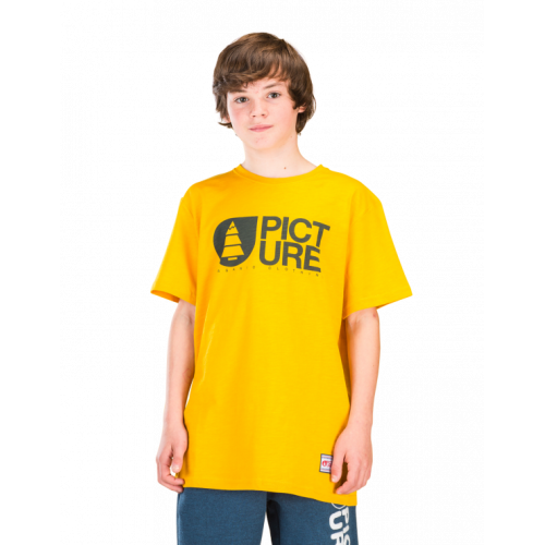 T-SHIRT JUNIOR PICTURE ORGANIC BASEMENT STAR YELLOW