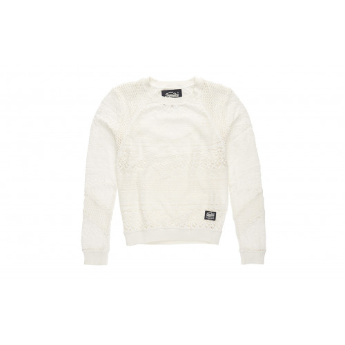 PULL SUPERDRY PANEL LACE CREW