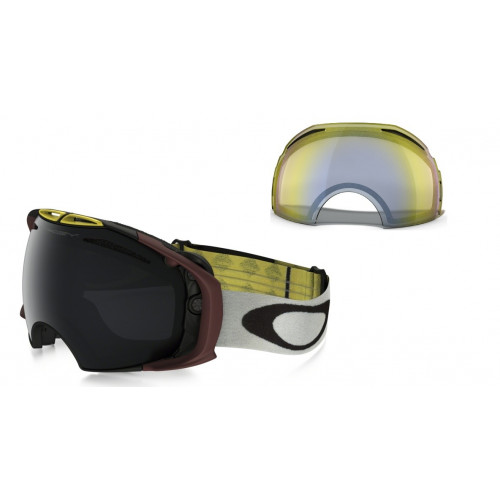 MASQUE DE SKI OAKLEY AIRBRAKE FLIGHT SERIES WILD CAT DARK GREY ET HI YELLOW