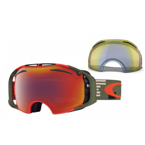 MASQUE DE SKI OAKLEY AIRBRAKE DISRUPTIVE OLIVE ORANGE PRIZM TORCH ET HI YELLOW