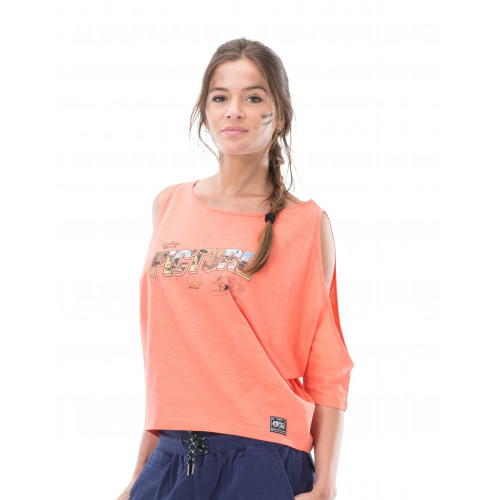 T-SHIRT PICTURE ORGANIC FANCY CORAL