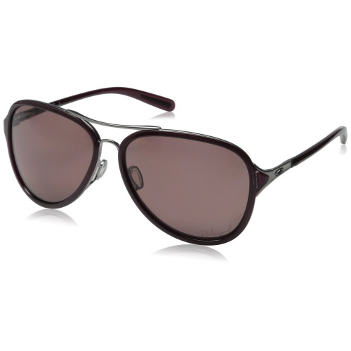 LUNETTES DE SOLEIL OAKLEY KICKBACK SATIN BLACK ICE CRSRASP GREY POLARIZED