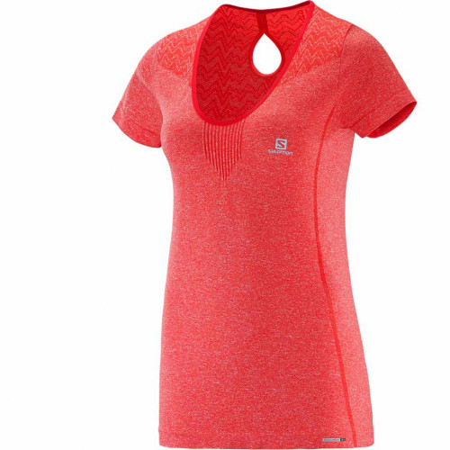 T-SHIRT SALOMON ELEVATE SS SEAMLESS RED