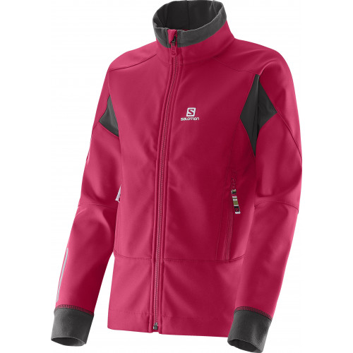 VESTE SALOMON MOMEMTUM SOFTSHELL JR LOTUS PINK