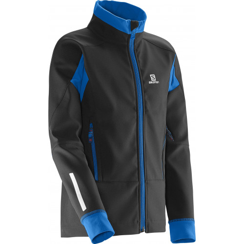 VESTE SALOMON MOMEMTUM SOFTSHELL JR BLACK