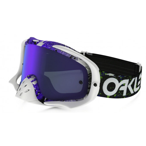 MASQUE VTT OAKLEY CROWBAR FR SPLATTER GM PURPLE ECRAN VIOLET + CLEAR