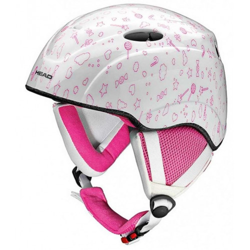 CASQUE DE SKI ENFANT HEAD STAR WHITE PINK