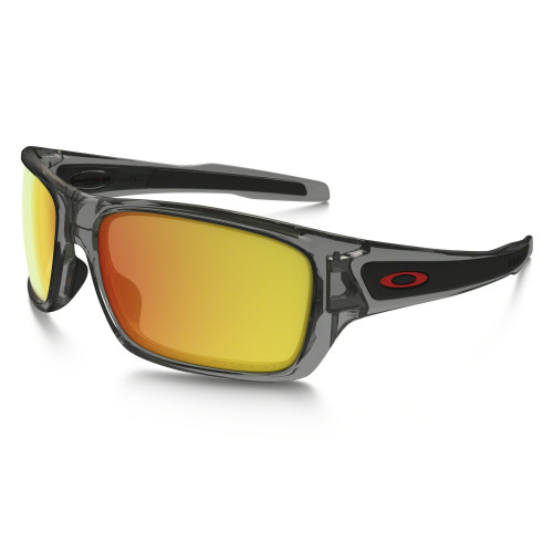 LUNETTES DE SOLEIL OAKLEY TURBINE GREY INK/RUBY IRIDIUM POLARIZED