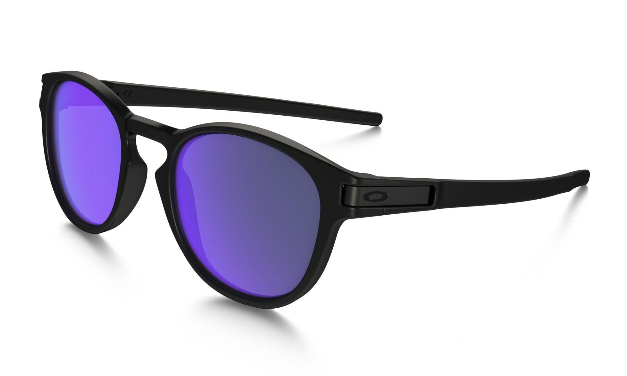 Lunettes De Soleil Oakley Latch Matte Black Violet Iridium - PRECISION SKI 863e2aad7aa4