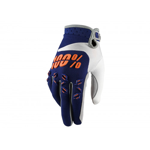 GANTS VTT 100% AIRMATIC JUNIOR BLEU MARINE / ORANGE