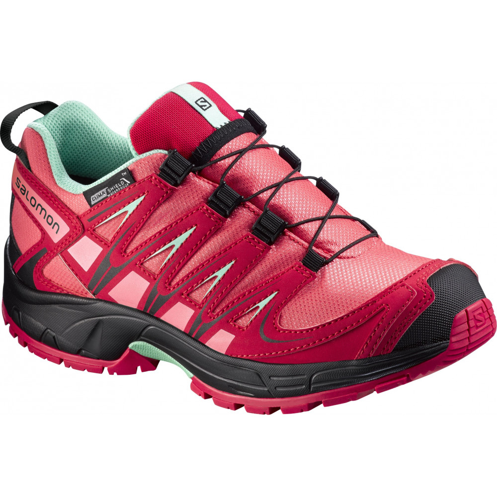 SALOMON XA PRO 3D J ROSE ET CERISE Chaussures trail Junior