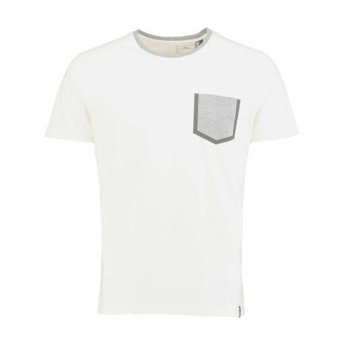 T-SHIRT O'NEILL PRINT SEALED POCKET BLANC