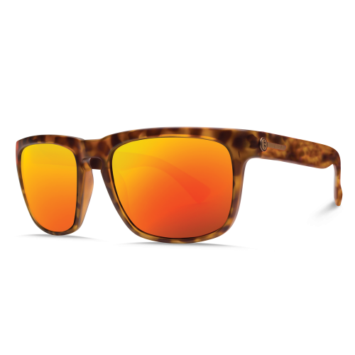 LUNETTES DE SOLEIL ELECTRIC KNOXVILLE MATTE TORT OHM GREY RED CHROME