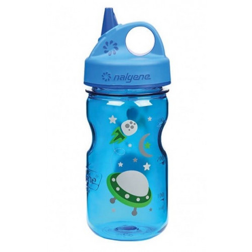 GOURDE NALGENE GRIP'N GLUP KIDS 0.35L BLUE SPACE