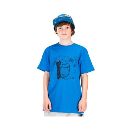 T-SHIRT PICTURE ORGANIC MINI DADY BLUE