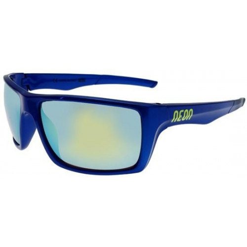 LUNETTES DE SOLEIL NEON JET ROYAL BLUE YELLOW FLUO MIRROR GOLD