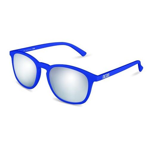 LUNETTES DE SOLEIL NEON VINTAGE ROYAL BLUE FLUO MIRROR STEEL