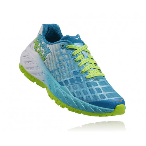 CHAUSSURE DE RUNNING HOKA ONE ONE CLAYTON BRIGHT GREEN / BLUE ATOLL