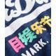 T-SHIRT SUPERDRY VINTAGE LOGO RAINBOW ENTRY TEE RUGGED NAUTICAL NAVY