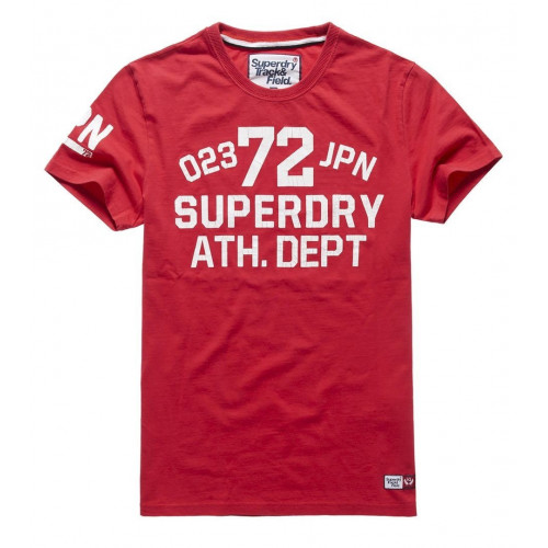 T-SHIRT SUPERDRY TRACKSTER S/S TEE INDIANA RED