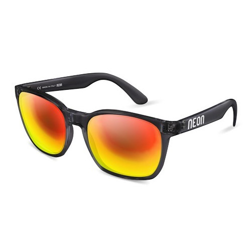 LUNETTES DE SOLEIL NEON THOR CRYSTAL BLACK MIRROR RED