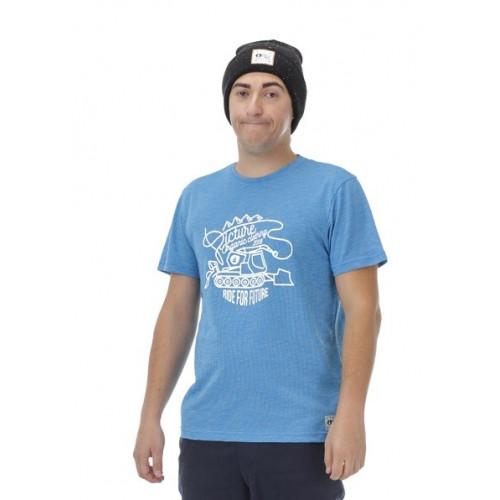 T-SHIRT PICTURE ORGANIC CASCADE BLUE