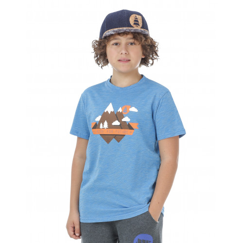 T-SHIRT PICTURE ORGANIC OURAY PEAK KIDS BLUE