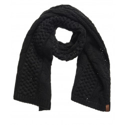 ECHARPE SUPERDRY NORTH CABLE SCARF BLACK