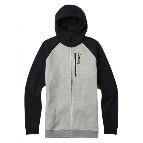 SWEAT A CAPUCHE ANALOG AG FORTE FZ GRAY HEATHER