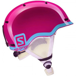 CASQUE DE SKI KID SALOMON GROM FUSHIA POP BLUE