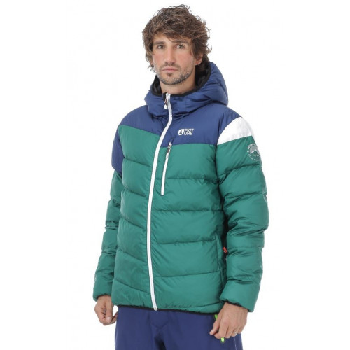 DOUDOUNE SCAPE JACKET DARK GREEN DARK BLUE WHITE