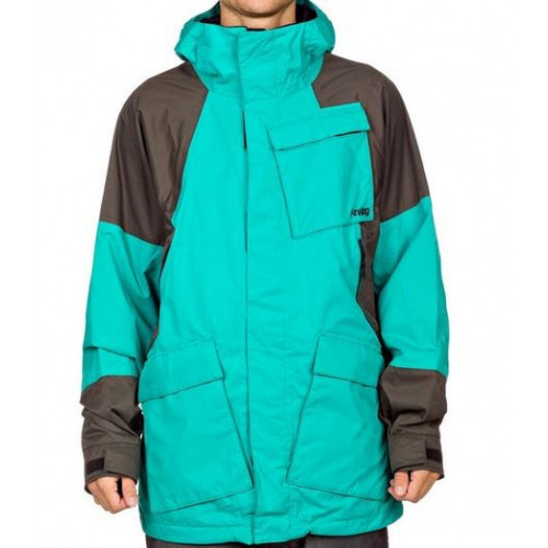 VESTE DE SNOWBOARD ANALOG ALBATROSS TEAL OFF BLACK