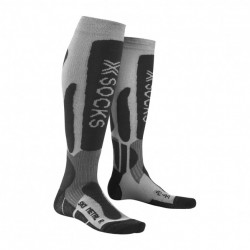 Chaussettes De Ski Homme X Socks Metal Argent