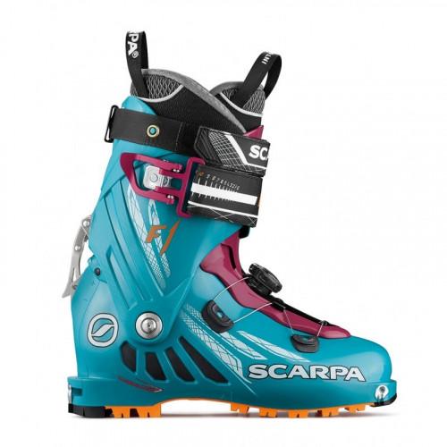 Chaussure Ski Rando Scarpa F1 Femme Artic Bleu