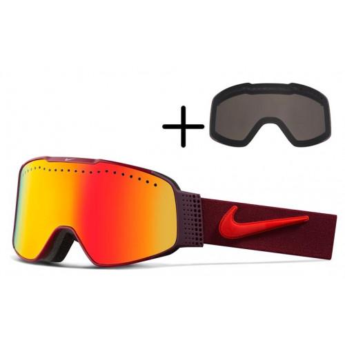 Masque de Ski Nike Fade Team Red Bright Yellow Red Ion