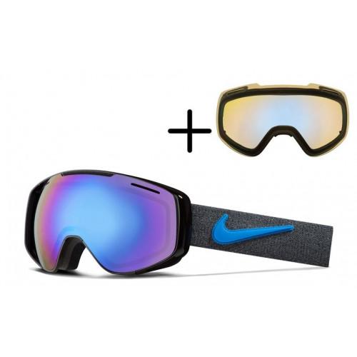 Masque de Ski Nike Khyber Anthracite Photo Blue Polarized
