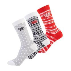Lot 3 Chaussettes Superdry Fairisle Sock Black / Red / Grey
