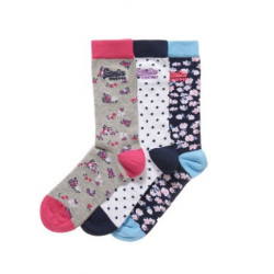 Chaussettes Superdry Disty Floral Sock Pack VJC