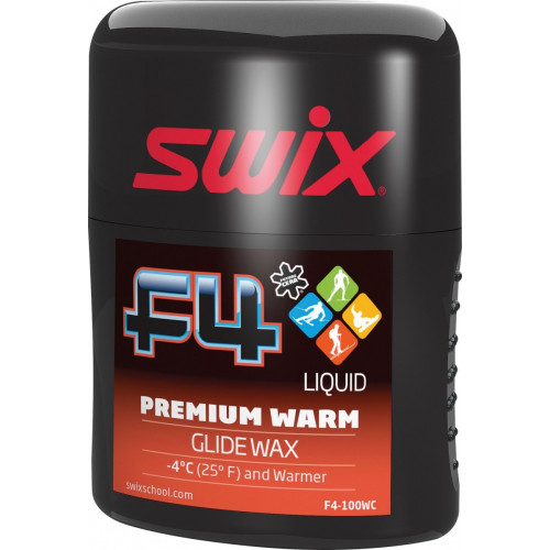 Fart Premium Swix F4 Liquide Warm 100ml Rouge
