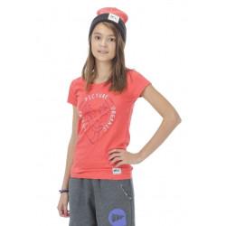 T-shirt Picture Organic Miss Kids Corail