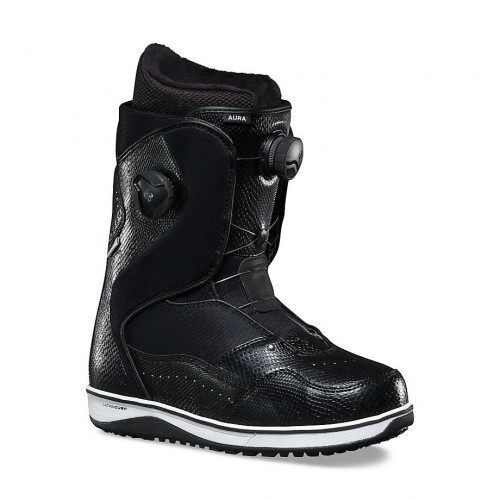 BOOT DE SNOW FEMME VANS AURA BLACK WHITE