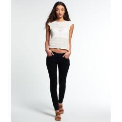 Pantalon Superdry Cassie Skinny Black