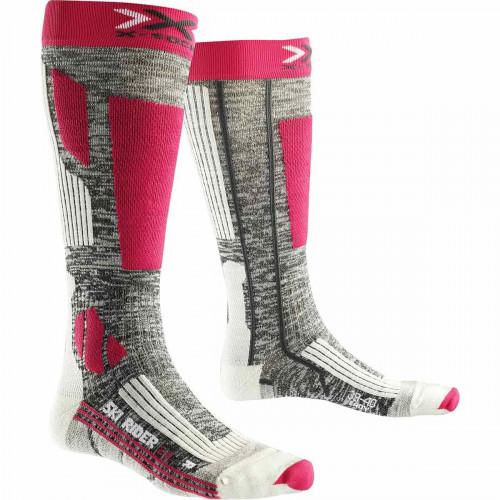 Chaussettes X Socks Riderlady 2.0 Gris/Fuschia