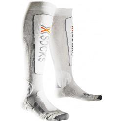 Chaussettes De Ski X Socks Ski Metal Gris/blanc