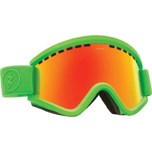 Masque ski Electric Slime Green Brose Red Chrome