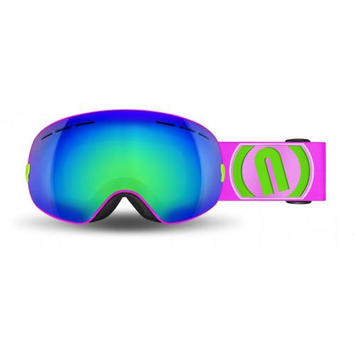 Masque de Ski Neon Alien Pink Fluo Mirror Green