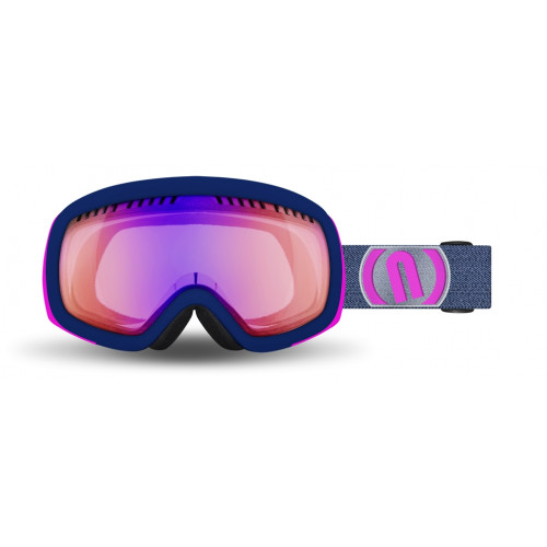 Masque Ski Neon Drop Blue Navy Pink Fluo Phototronic